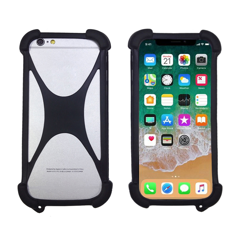 Universal Soft Elastic Silicone Bumper Cell Phone Cover Case For Doogee HomTom HT50 HT37 HT6 4G LTE(China)