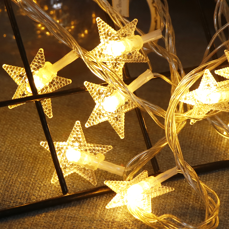 10M 100 Star Garland LED String Christmas Lights Decoration For Room Bedroom Wedding Party Holiday Fairy Lights Festoon Lighting