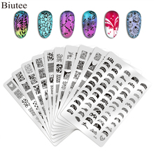 Biutee Nail Stamping Plate Nails Art Stamp Stainless Steel Templates f