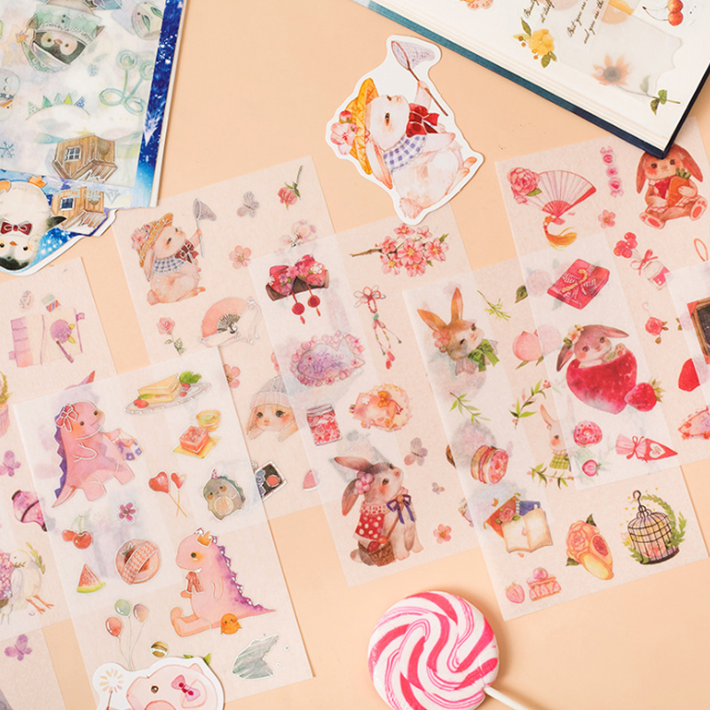15packs lot Lovely font b Pet b font Series Stationery Stickers DIY Kawaii Stickers For Decoration