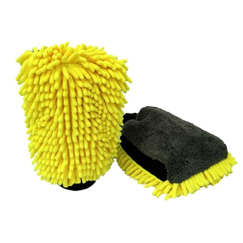 Waterproof Autoglym Microfibre Noodle Wheel Wash Mitt Car Chenille Hand Mitt Washing Gloves