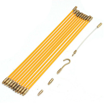Enhebrador de Cable de 4mm 33cm, dispositivo de guía, mejora del hogar, conjunto de cintas de fibra de vidrio conectables, extractor de Cable eléctrico, pared de serpiente