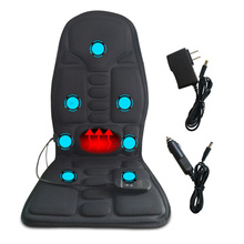 цена на New Electric Back Heated Massage Cushion Car Seat Home Office Cushion Car Seat Chair Massager Lumbar Back Neck Pad Relaxation