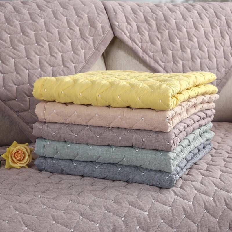 Хлопковый чехол для дивана для гостиной, однотонный грязезащитный чехол для дивана, эластичная Защитная Подушка для домашнего животного собаки, коврик на 1 3 сиденья, диван|Чехлы для диванов|   | АлиЭкспресс