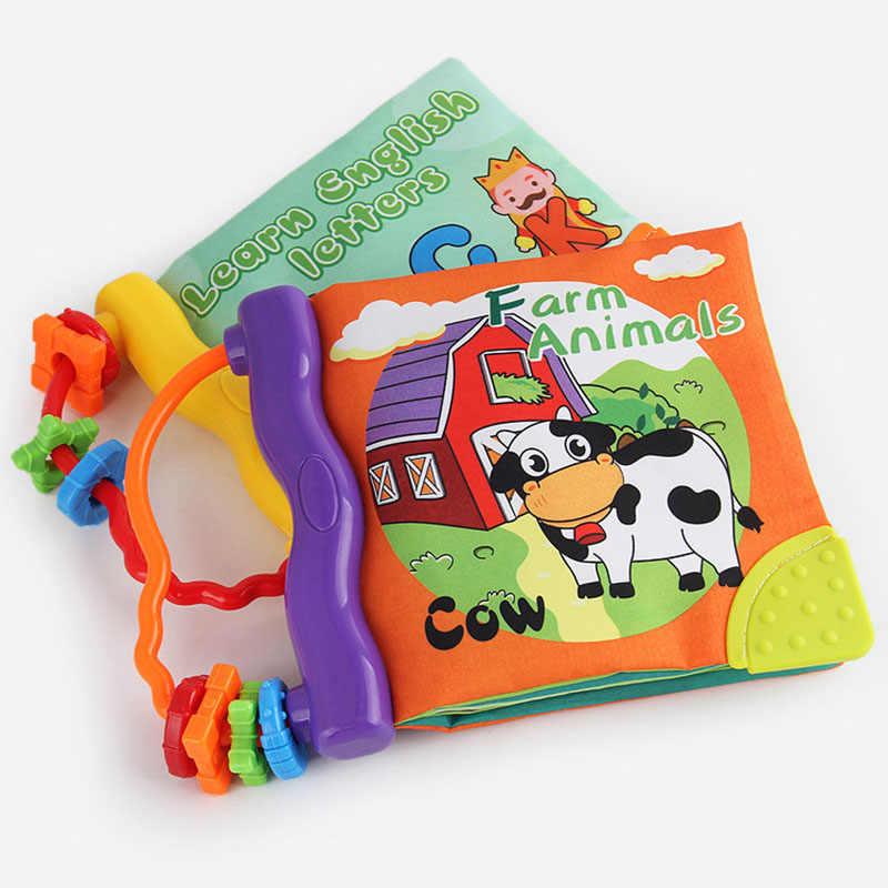 Baby Englisch Stereo Tuch Buch Mit Rassel Beissring Neugeborenen Spielzeug Fur Kinderwagen Cirb Mobile Waschbar Sauglings Fruhen Bildung Spielzeug Aliexpress