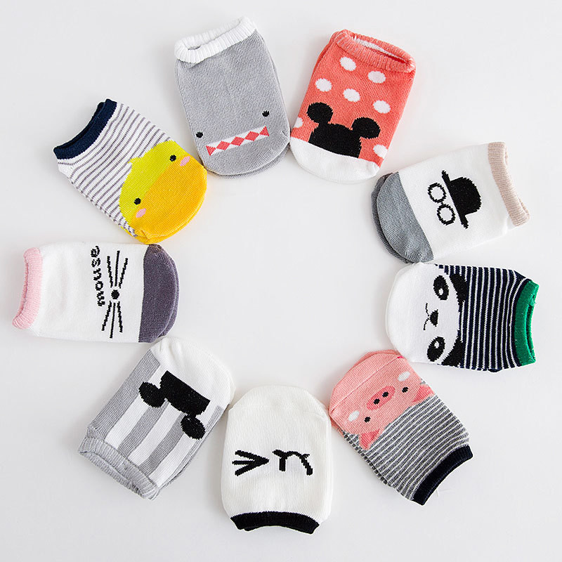 Baby Anti Slip Socks Non-slip Baby Toddler Low Cut Socks Shoes Slippers Boys Girls Children's Low Cut Socks Booties Kids Socks
