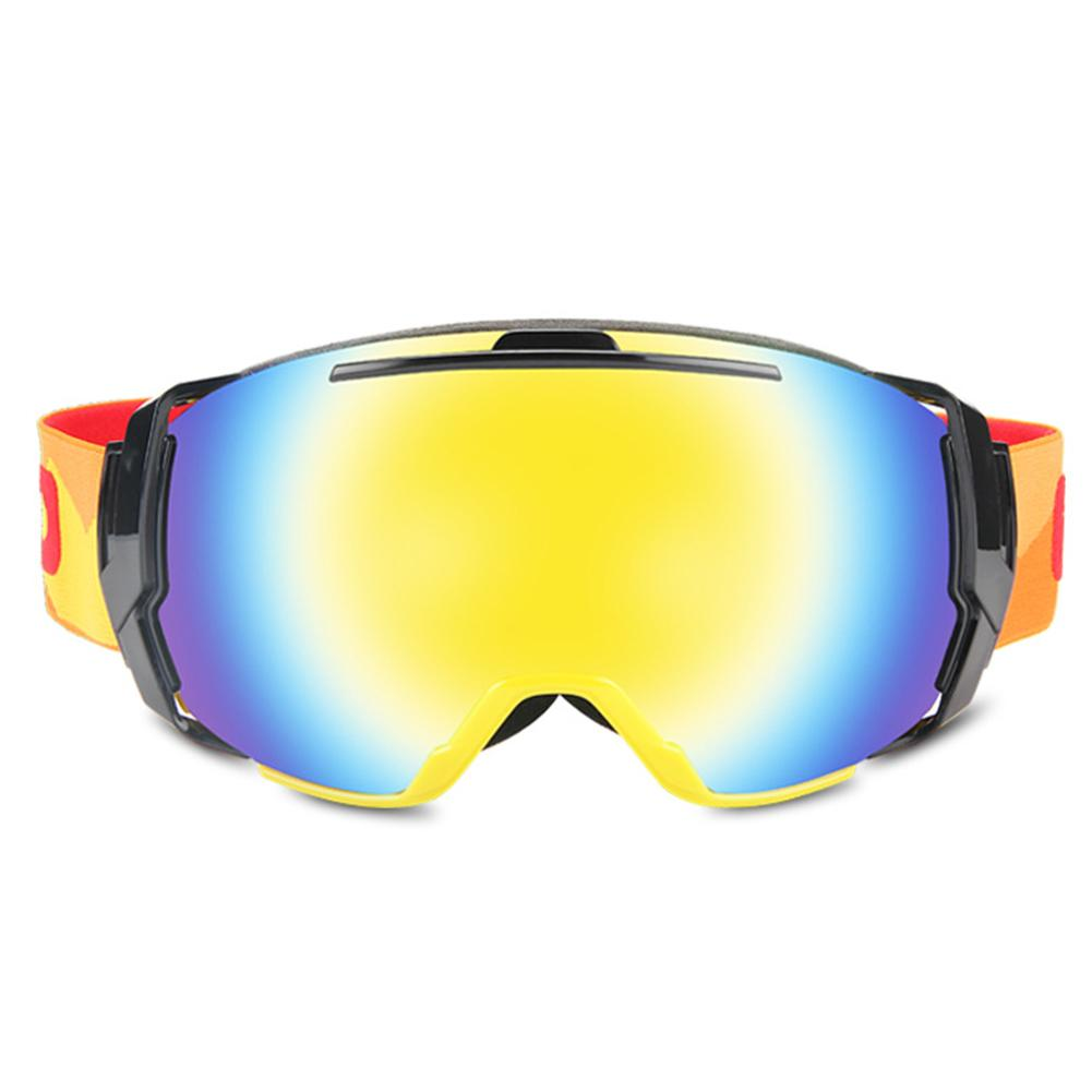 Ski Goggles Glasses Anti-fog Soft Ski Mask Glasses Elastic Strap Snowboard Riding Goggles Eye-Glasses Winter Outdoor Supplies
