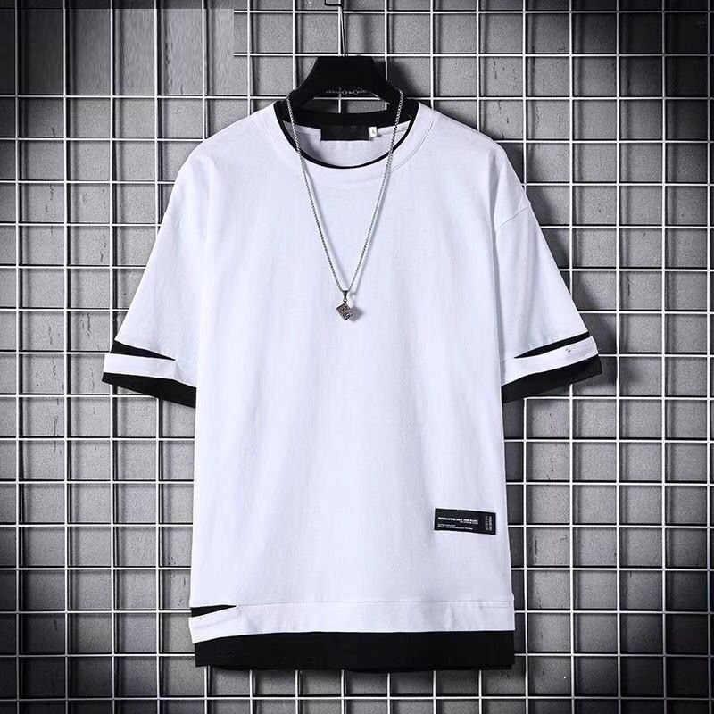 男性の tシャツ 2020 おかしい穴 o ネック半袖 tシャツ夏のヒップホップカジュアル男性服トップスストリート