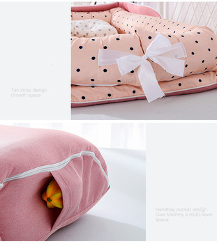 Baby Cradle Bumper Nest Portable 4