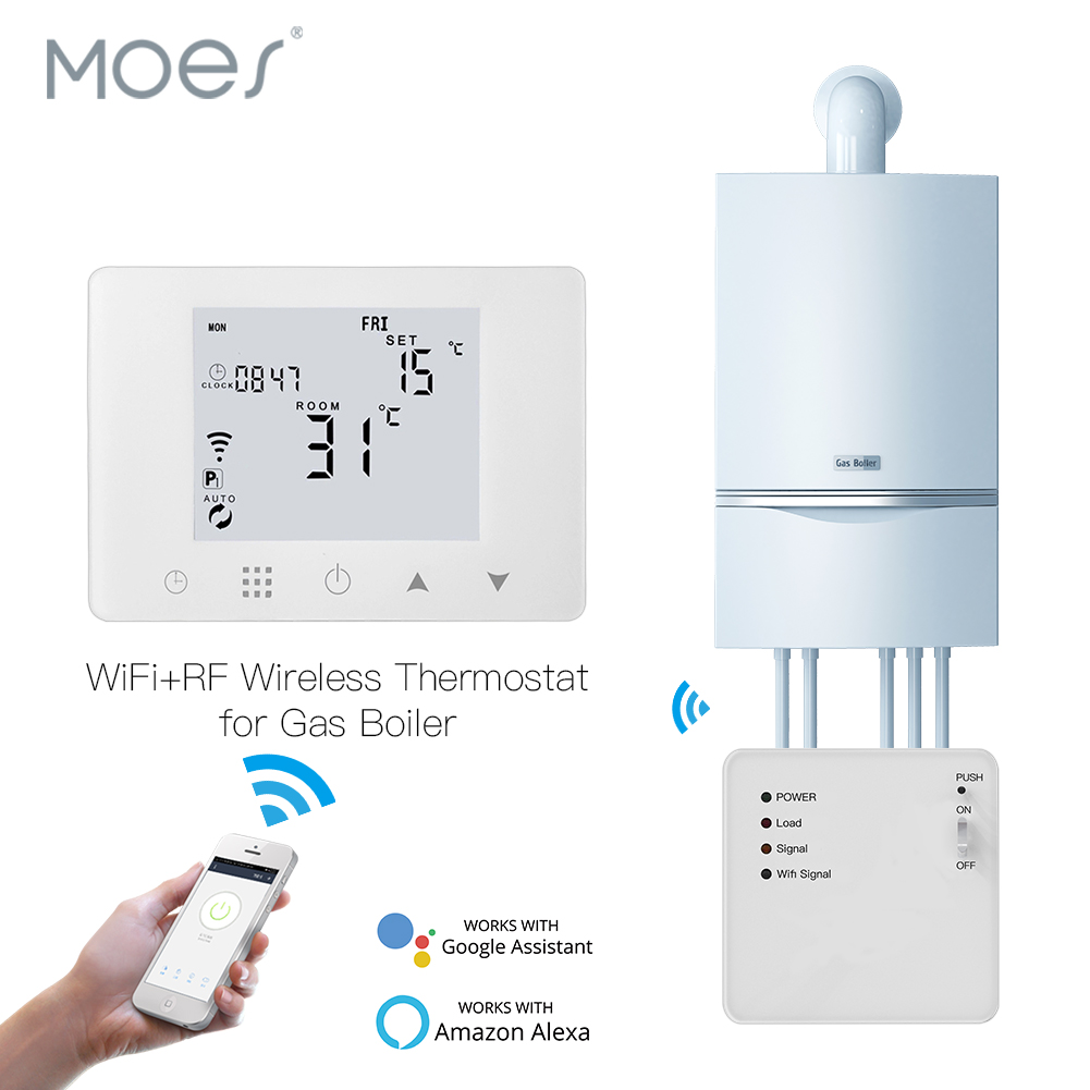 WiFi Smart Thermostat Wall-Hung Gas Boiler Heating Temperature Controller Work With Alexa Google Home