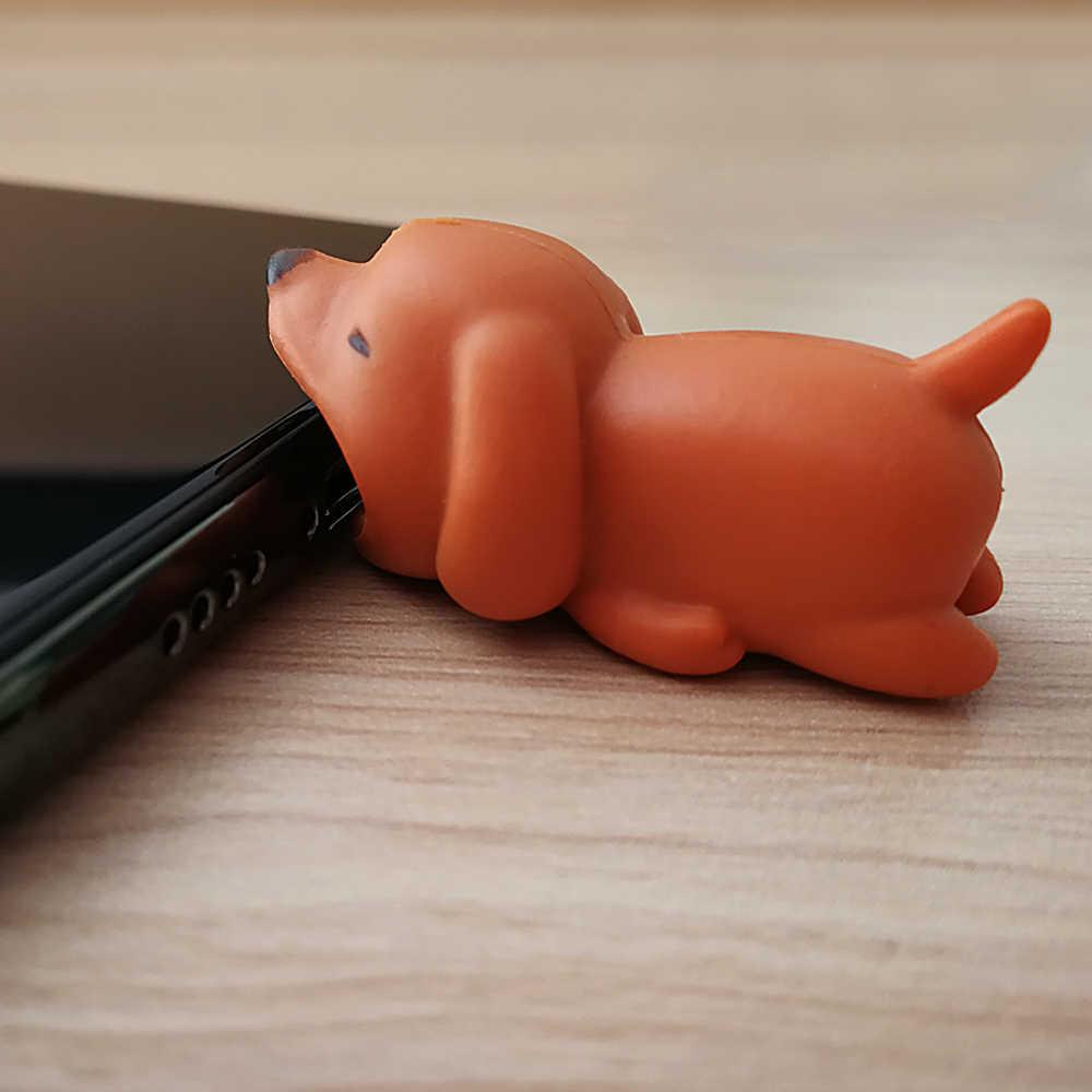 USB ケーブルかむプロテクター動物かわいい漫画カバー Iphone 用ケーブルイヤホンケーブル仲間携帯電話装飾ワイヤー