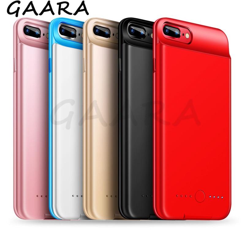 5000mAh Ultra mince chargeur de batterie étui pour iPhone 6 6s 7 8 couverture d'alimentation externe pour iPhone 6 6s 7 8 Plus Powerbank coques