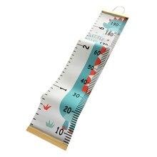 Hängen Leinwand Höhe Kinder Wachstum Chart Wand Decor Herrscher Mit Holz Rahmen Kinder Höhe Rekord Für Baby Kindergarten Dekoration