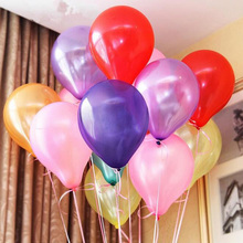 100pcs/Lot 10inch Latex Balloon Helium Thickening Pearl Celebration Party Wedding Birthday Christmas Decorations For Home @