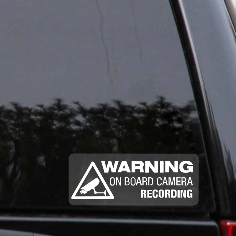 Warning On Board Camera Recording Car Window Truck Auto Vinyl Stickers
