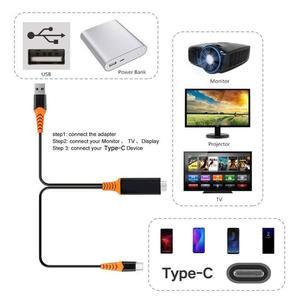 Image 3 - USB C Sang HDMI 4K 60Hz Cáp Type C Sang HDMI Thunderbolt 3 Cho Macbook iPad 2018 Huawei P30 P20 Pro Video USB C Cáp HDMI