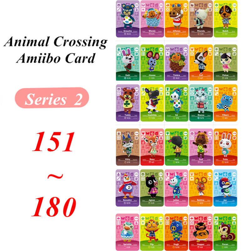 Animal Crossing Amiibo Card Series 2 NFC Card For Nintendo Switch NS Games Series 2  (151 To 180)