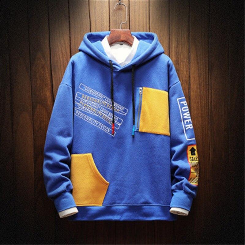 Männer Sweatshirt Mit Kapuze Hoodie Baggy Langarm Casual Hoodies Hip Hop Pullover Plus Größe M-5XL High Street Männer Kleidung