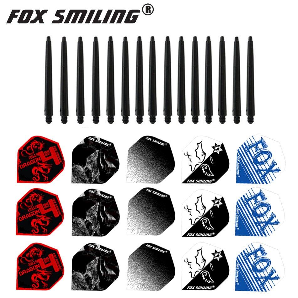 Fox Smiling 15pcs Nylon Dart Shafts And 15pcs Popular Darts Flights Dardos Dart Accessories For Indoor Games