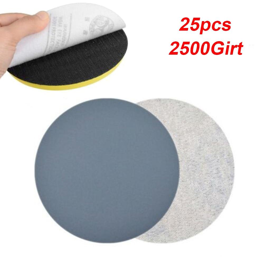 25 шт./компл. шлифование наждачной бумагой полировка дисков на застежке-липучке шлифовальный 2500 Grit 3 75 мм