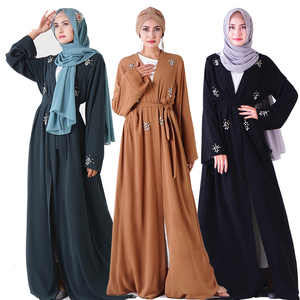 Open Abaya Kimono Turkish Islam Hijab Muslim Dress Women Kaftan Robe Caftan Dubai Islamic Clothing Prayer Clothes Moslim Jurken