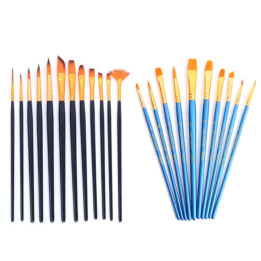 22Pcs Nylon Hair Paint Brushes Set For Gouache / Acrylic / Oil Model Building Tool Sets Toys & Hobbies Black Blue