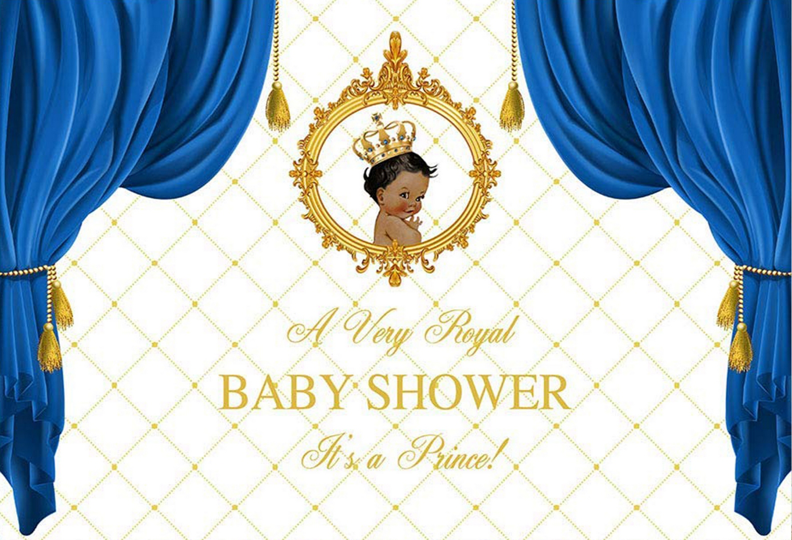 A Very Royal Baby Shower Backdrop A Prince Babyshower Party Background Boy Poster Gold Royal Blue Curtain Photo Booth Banner Background Aliexpress