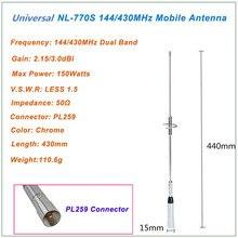NL-770S faixa dupla uhf/vhf 144/430mhz 150w carro auto rádio móvel//estação antena