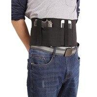 Cinturón táctico multifuncional, 95CM, faja elástica, cintura General, funda de neopreno para arma de tela, soporte para bolsa de teléfono móvil