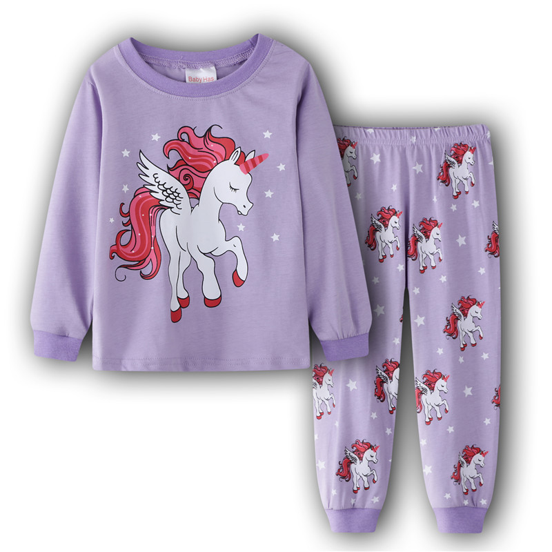 2019 Unicorn Pijama Unicornio Koszula Nocna Girls Nightgown Christmas Pijamas De Animales Pyjamas Kids   Pajama     Set   Stitch Clothes