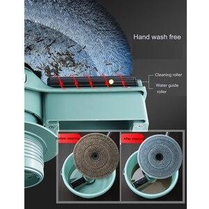 Image 5 - Balai serpillère magique pour le sol et la salle de bain avec seau microfibre 360, accessoire universel pour le nettoyage des sols et salle de bain