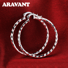 Silver Color Hoop Earrings Oversize Circle Ear Rings For Women Fashion Europe Jewelry
