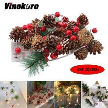 20 светодиодов светильник гирлянда Рождественский Сказочный