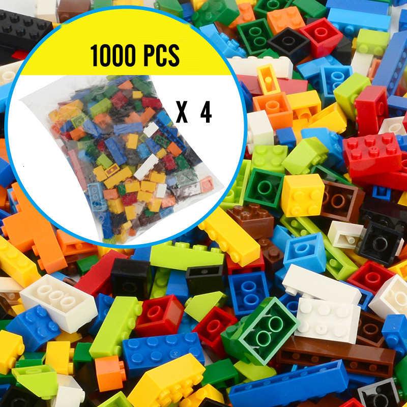 Clássico marca blocos de construção cidade diy tijolos criativos a granel modelo figuras educativos crianças brinquedos tamanho pequeno tudo disponível