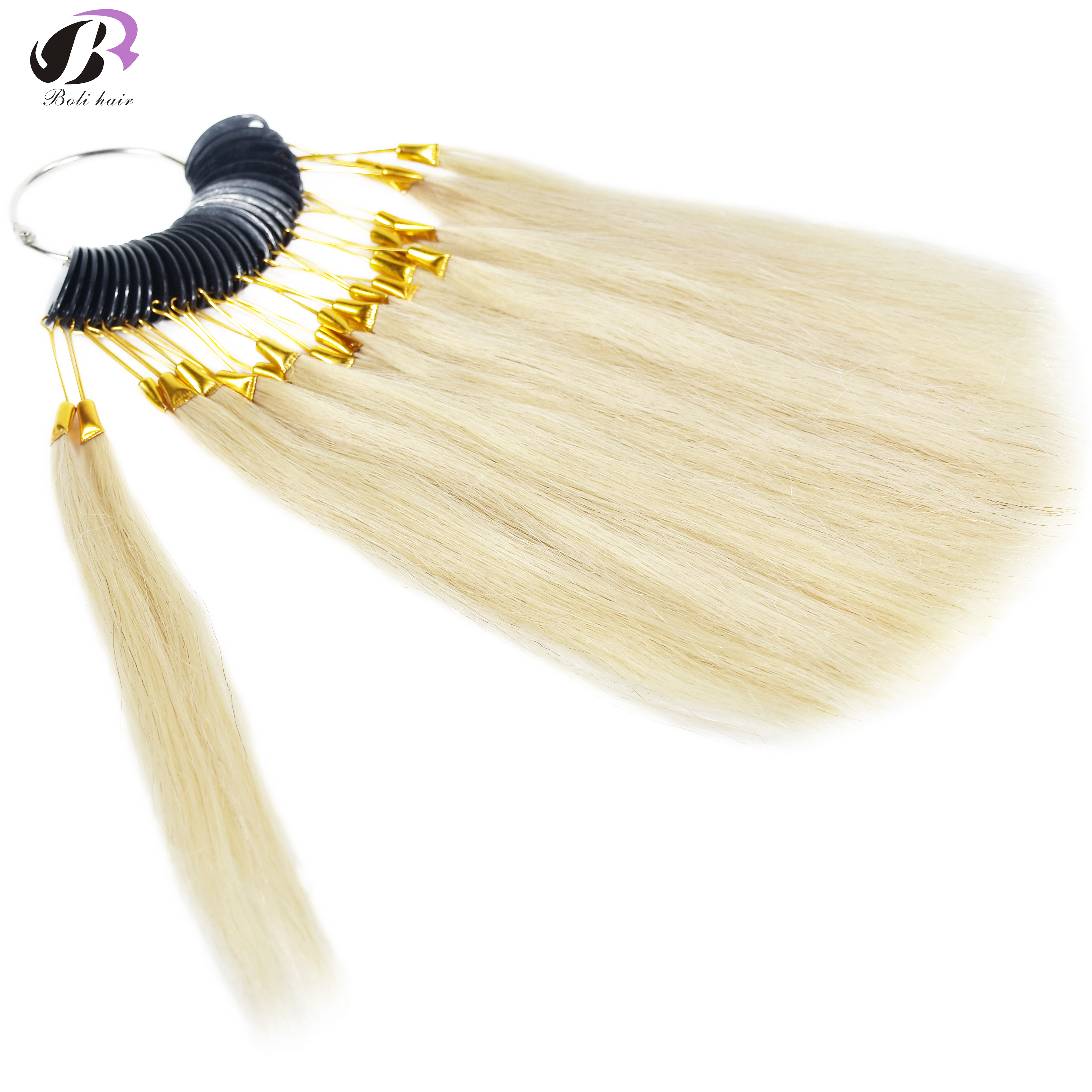 7cm 30Pcs/Set 100% Human Hair Color Rings For Human Hair Extensions And Salon Hair Dyeing Sample Can Be Dye Any Color