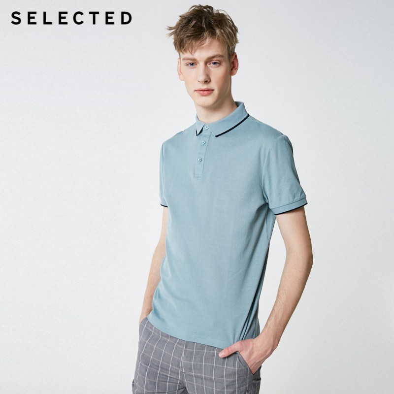 SELECTED Men's Summer Turn-down Collar Short-sleeved   Polo   S|419206503