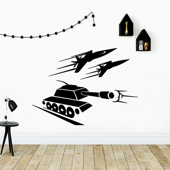 Cartoon T tanks Wall Sticker Wall Decal Sticker Home Decor For Baby's Rooms Vinyl Decals cartoon plant vinyl decorative wall sticker
