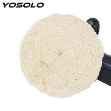 YOSOLO Auto Detaillierung Puffer Polieren Pad 6 Zoll Auto Wartung Wolle Polieren Pad Auto Polierer Auto Pflege Werkzeuge