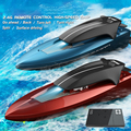 Mini 2.4G Wireless Remote Control Boat Racing Water Electric Speed Boat Navigation Model 15km/h 4 Channel High-speed RC Boat
