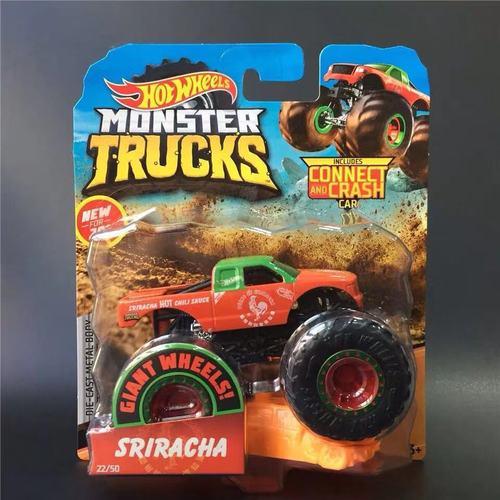 1: 64 оригинальные горячие колеса гигантские колеса Crazy Barbarism Монстр металлическая модель грузовика игрушки Hotwheels большая ножная машина детский подарок на день рождения - Цвет: 22