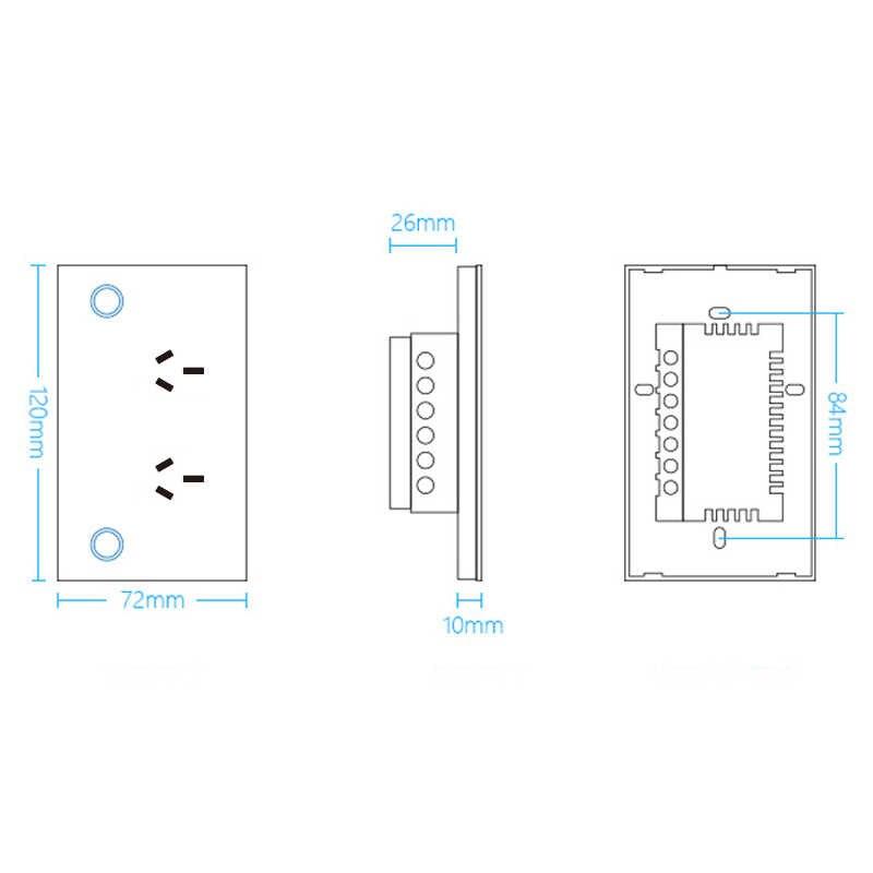ASEER,AU Plug WIFI חכם שקע SAA מוסמך 10A,110-240V טלפון עיתוי, הנוכחי ניטור, תמיכה Alexa/Google קול שליטה