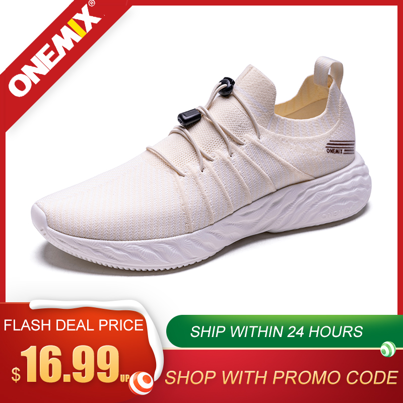 ONEMIX Men Sneakers Breathable Mesh Running Shoes Fashion Shoes Outdoor Sneakers For Womens Slip-On Soft Casual Jogging Shoes