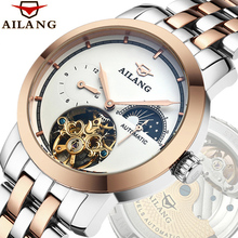 2020 AILANG Mechanical Watch Men Stainless Steel Fashion Men Skeleton Waterproof Automatic Male Clock Wrist Watch montres homme ik colouring mens orologio uomo automatic wristwatch skeleton steampunk wrist watch stainless steel band male clock montre homme