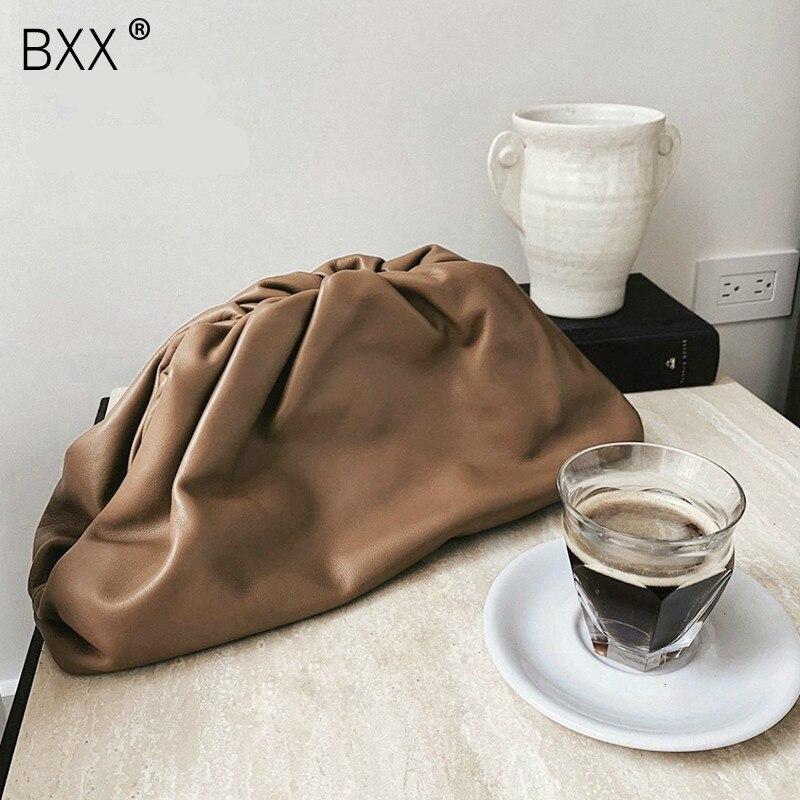 [BXX] Day Clutch Evening Party Purse Bag Women Large Big Pillow Bag Leather Pouch Handbag 2020 Summer Brand Designer Bags HI193