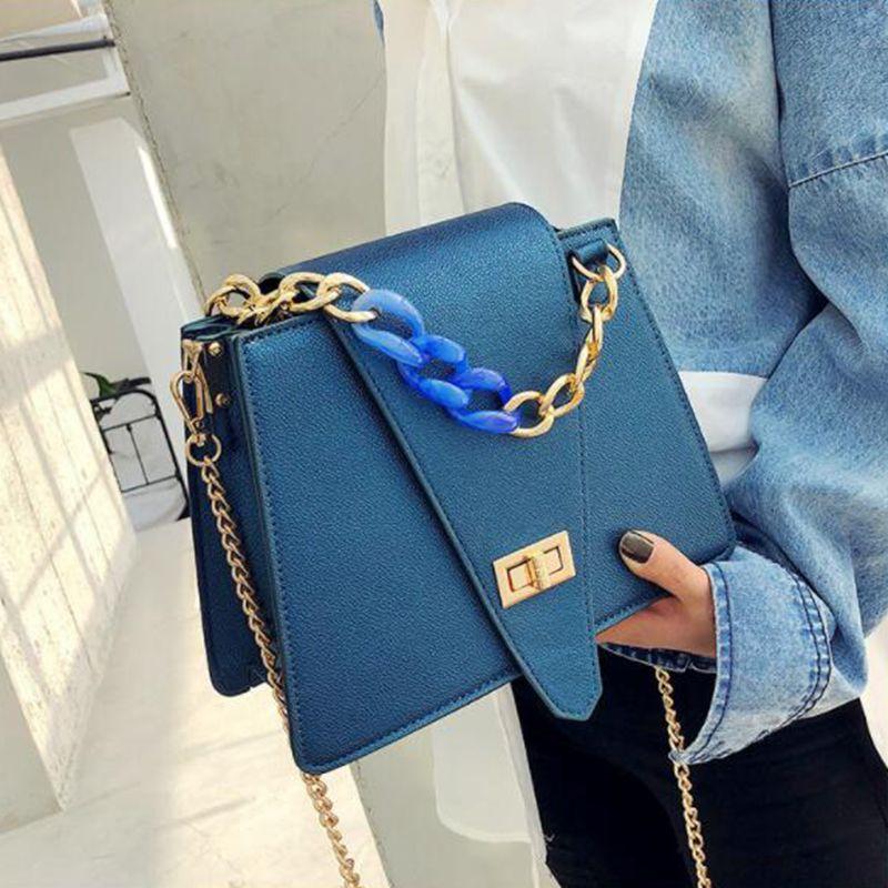 Marque de luxe sac à main 2019 mode nouvelle qualité PU cuir femmes Designer sac à main chaîne fourre-tout sac serrure épaule Messenger sac