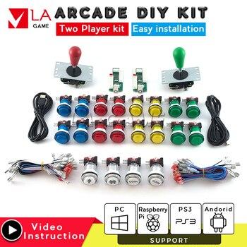 arcade cabinet  diy arcade kit 2 player zero delay encoder kit  arcade buttons kit sanwa joystick led push button arcade panel
