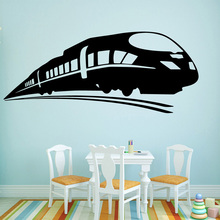 Vinyl Art Design Wall Decals Funny Train Sticker Kids Home Decor Beauty Fashion Transportation Poster Mural W636