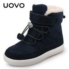 2020 UOVO yeni varış kış çocuk kar moda çocuk sıcak botları erkek ve kız ayakkabı peluş astar ile #31-37