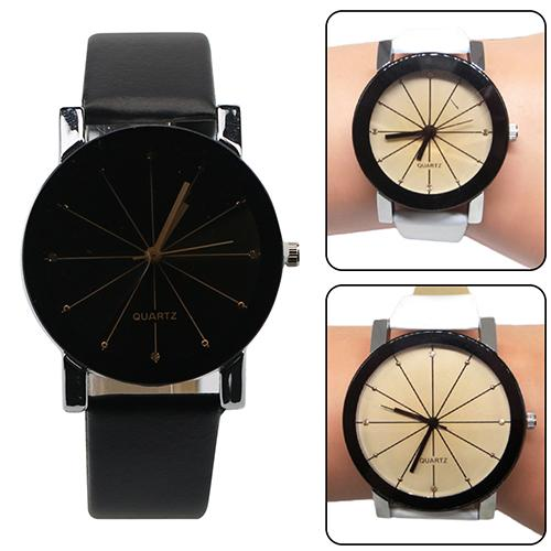 Women's Men Watches Couple Watch Fashion Alloy Faux Leather Watches Quartz Clock Sports Dress Wrist Watch Reloj Mujer 2019 Hot