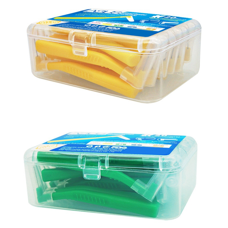 asus 40 pcs l forma push pull escova interdental cuidado oral dentes clareamento dental dente picareta